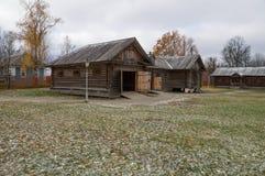 Gran Boldino Casa con cochera con los establos en la reserva Pushkin del museo Fotografía de archivo