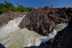 Gran caída del agua del Lao Imagen de archivo
