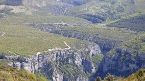 Gran Cañón del verdon, Francia foto de archivo