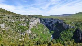 Gran Cañón del verdon, Francia fotos de archivo
