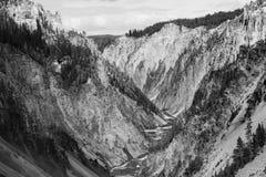 Gran Cañón en el parque nacional de yellowstone Fotos de archivo
