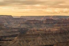 Gran Cañón en la puesta del sol Imagen de archivo libre de regalías