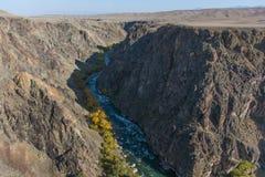 Gran Cañón y río de Charyn en Kazajistán Foto de archivo libre de regalías