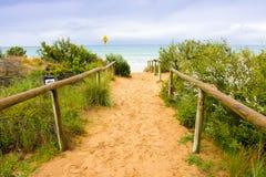 Gran caminata del océano Fotografía de archivo