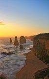 Gran camino Australia del océano de 12 apóstoles Foto de archivo libre de regalías
