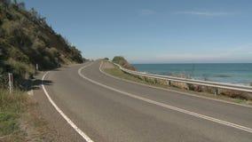 Gran camino del océano almacen de video