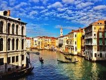 Gran Canal de Venecia Imagen de archivo libre de regalías