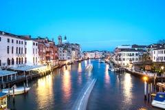 Gran Canal en tiempo de la puesta del sol, Venecia imágenes de archivo libres de regalías