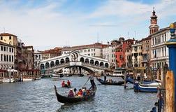 Gran Canal en Venecia Foto de archivo libre de regalías