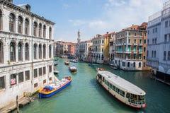 Gran Canal en Venecia, Italia Fotos de archivo libres de regalías