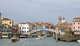 Gran Canal and Scalzi bridge Stock Photos