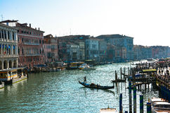 Gran canal Venice (Venezia) Royalty Free Stock Photo