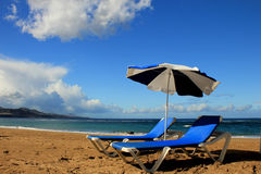 Gran canaria海滩 免版税库存照片