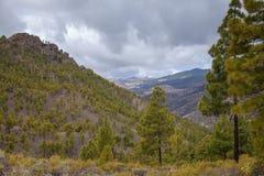 Gran Canaria, взгляд от Las Cumbres Стоковые Изображения