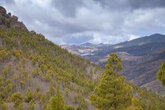 Gran Canaria, взгляд от Las Cumbres Стоковое Изображение