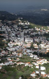 Gran Canaria, Aerial view of historic town Teror Stock Photos
