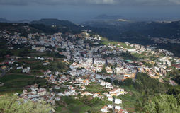 Gran Canaria, Aerial view of historic town Teror Royalty Free Stock Photos