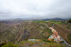 Gran Canaria, aerial view. From Pico de Bandama royalty free stock photo