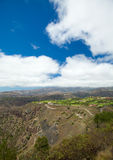 Gran Canaria, aerial view west from Pico de Bandama Stock Photography