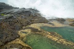 Gran Canaria, Banaderos area, rock pools Royalty Free Stock Images
