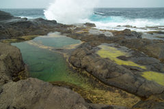 Gran Canaria, Banaderos area, rock pools Stock Photos