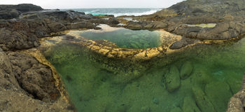 Gran Canaria, Banaderos area, rock pools Stock Photo