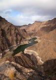 Gran Canaria, Barranco de Aldea, dam Presa de Parrarillo Royalty Free Stock Photos