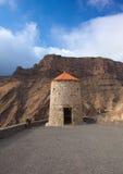 Gran Canaria, Barranco de Aldea, molino de viento averiado Fotografía de archivo