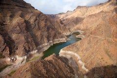 Gran Canaria, Barranco de Aldea, presa Presa de Parrarillo Imagen de archivo libre de regalías