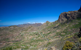 Gran Canaria, Barranco de Soria. Aerial view Stock Photo