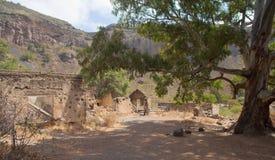 Gran Canaria, Caldera de Bandama, abandoned farm Stock Photos