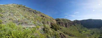 Gran Canaria, Caldera de Bandama och Pico de Bandama royaltyfria foton
