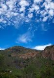 Gran Canaria, Caldera de Bandama after winter rains Royalty Free Stock Images