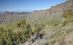 Gran Canaria, Caldera de Tejea, Januari royaltyfri foto
