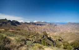 Gran Canaria, caldera de Tejeda Immagini Stock