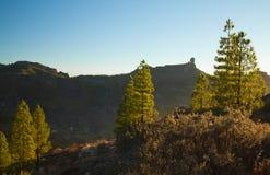 Gran Canaria, Caldera de Tejeda arkivbilder