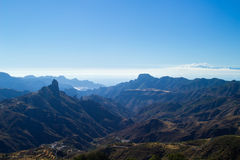 Gran Canaria, Caldera de Tejeda,afternoon light Stock Image