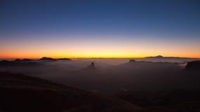 Gran Canaria, Caldera de Tejeda, aftonljus fotografering för bildbyråer