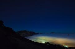 Gran Canaria, Caldera de Tejeda, dimmig natt arkivfoto