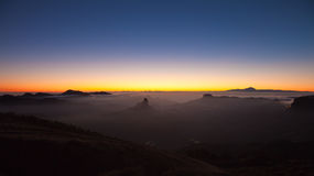 Gran Canaria, Caldera de Tejeda, evening light Stock Images