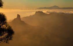 Gran Canaria, Caldera de Tejeda, evening light Royalty Free Stock Image