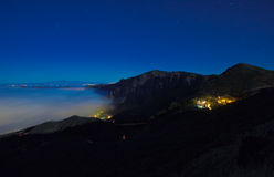 Gran Canaria, Caldera de Tejeda, foggy night Stock Photo