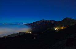 Gran Canaria, Caldera de Tejeda, foggy night Royalty Free Stock Photography