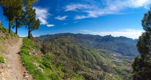 Gran Canaria, Caldera de Tejeda, hiking path Stock Photo