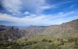 Gran Canaria, Caldera de Tejeda i Februari arkivfoton