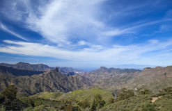 Gran Canaria, Caldera de Tejeda i Februari arkivbilder