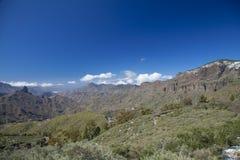 Gran Canaria, Caldera de Tejeda i Februari royaltyfria foton