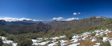 Gran Canaria, Caldera de Tejeda i Februari 2016 arkivfoton
