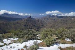 Gran Canaria, Caldera de Tejeda i Februari 2016 arkivbilder