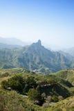 Gran Canaria, Caldera de Tejeda i Januari arkivbilder